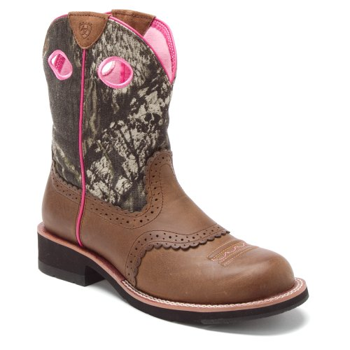 ARIAT Women's Fat Camo Cowgirl Boot Distressed 6 M US ()