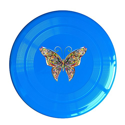 Discovery Wild Iridescent Chromatic Butterfly Plastic Sportdisc Flying Disc - Frisbee Like Toy For Outdoor Game Play - Sports For All Ages - Party Fun - RoyalBlue