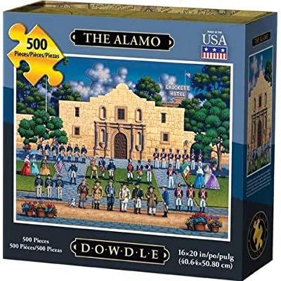 Dowdle Jigsaw Puzzle - The Alamo - 500 Piece: Toys & Games