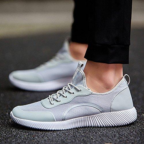 Le Donne Leggere Degli Uomini Unisex Coppia Casual Moda Sneakers Traspirante Sport Atletici Scarpe Di Grandi Dimensioni Grigio