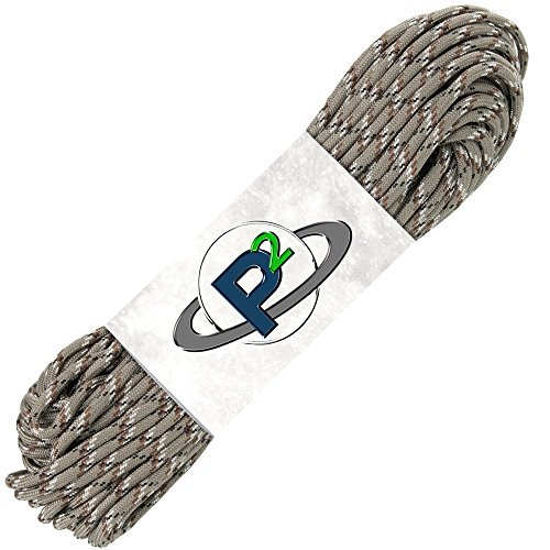 PARACORD PLANET Mil-Spec Commercial Grade 550lb Type III Nylon Paracord (Desert Camo, 10 feet) ()