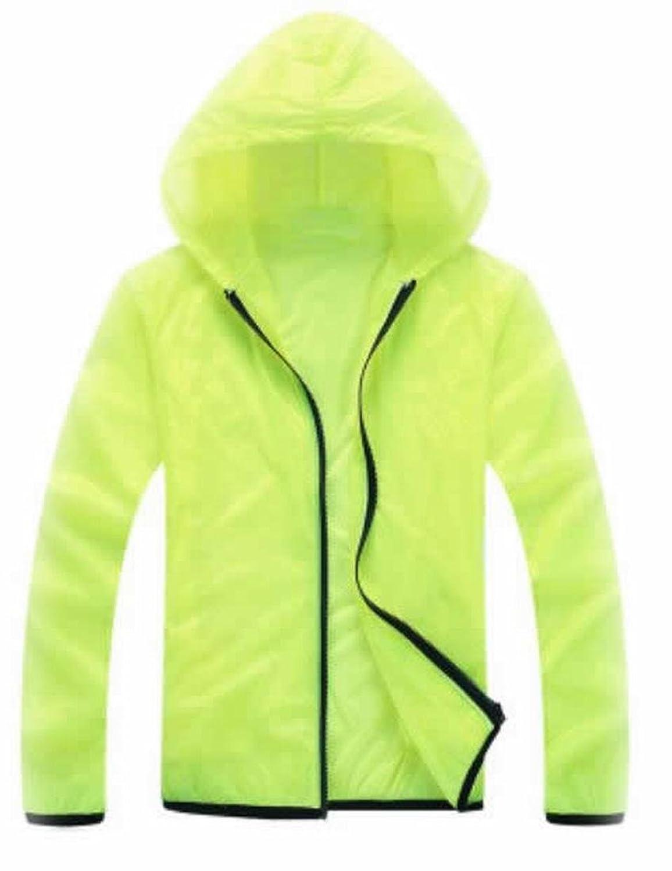 Vska Women Solid Windproof UV Protect Breathable Hooded Coats