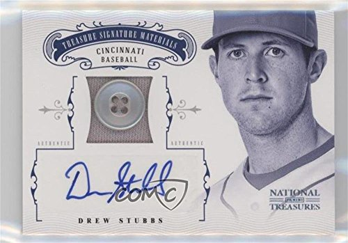 Drew Stubbs #2/6 (Baseball Card) 2012 Panini National Treasures - Treasure Materials - Signature Prime Button [Autographed] #25