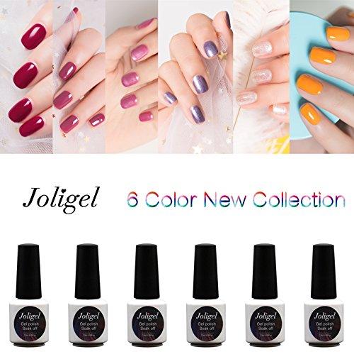 Joligel Gel Nail Polish Fairy Set for Girls UV LED, Creamy B