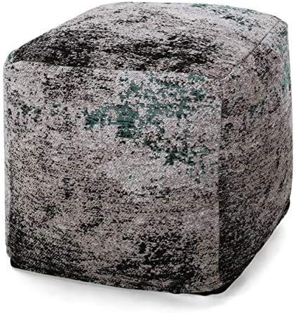 Christopher Knight Home Hannah Hand-Loomed Boho Fabric Cube Pouf
