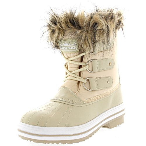 Womens Lace Up Rubber Sole Short Winter Snow Rain Shoe Boots - 11 - BEN42 YC0078 (Wholesale Shorts Booty)