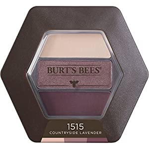 Burt's Bees 100% Natural Eye Shadow Palette with 3 Shades, Countryside Lavender, 0.12 Ounce