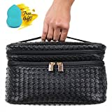 Cosmetic Makeup Bag & Organizer for Women | Train Case Style with...