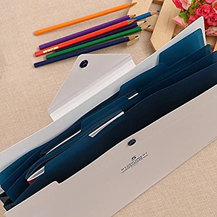 utile pour le Bureau color/é Classeur 5 Position pour Dossier Document le Classe etc. A4 papier Conf/érencier Feuille dexamen