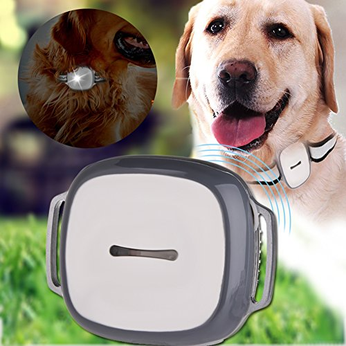 GPS Pet Tracker, Yunt GPS Monitoring with LED Light and Collar Smart Tracking Mini Waterproof for Dogs Cats by Yunt