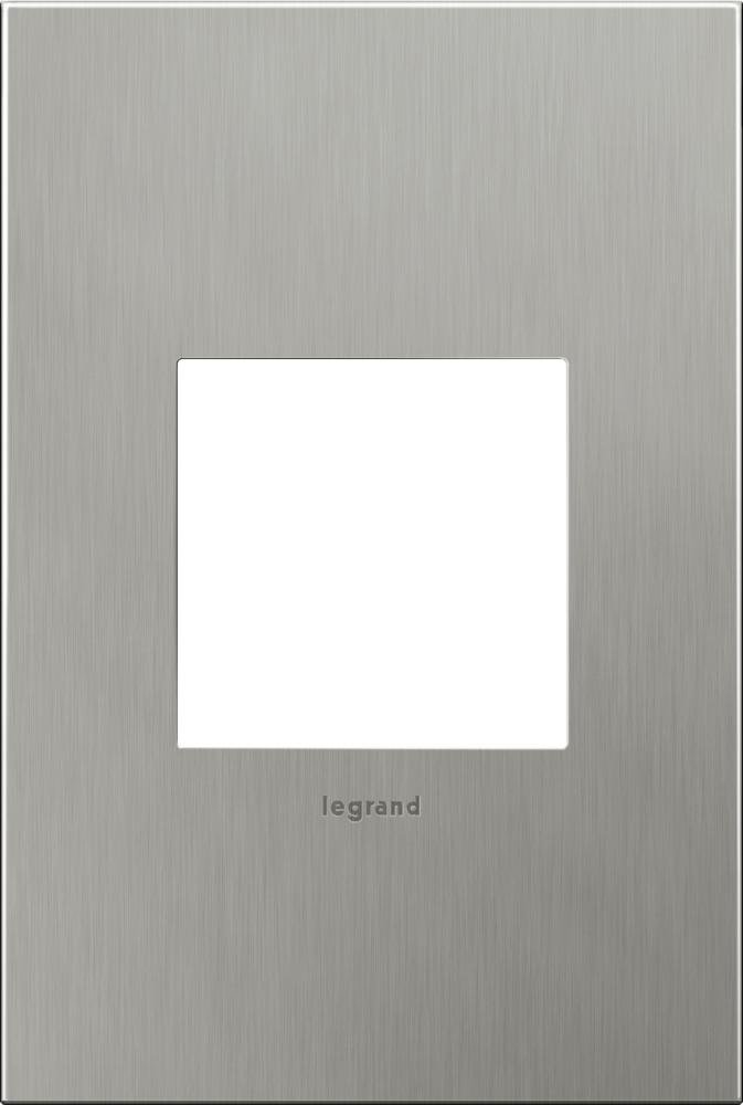 adorne 1-Gang Brushed Stainless Steel Wall Plate