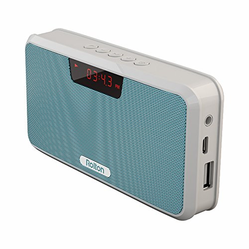 Rolton E300 Multi-functional Portable Wireless Bluetooth Stereo Speaker with Power Bank, FM Radio (Blue)