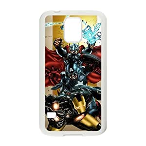 C-EUR Customized Print Avengers Marvel Hard Skin Case Compatible For Samsung Galaxy S5 I9600