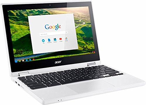 2017 Newest Acer Premium R11 11.6'' Convertible 2-in-1 HD IPS Touchscreen Chromebook - Intel Quad-Core Celeron N3160 1.6GHz, 4GB RAM, 32GB eMMC, Bluetooth, HD Webcam, HDMI, USB 3.0, Chrome OS - White by Acer (Image #2)