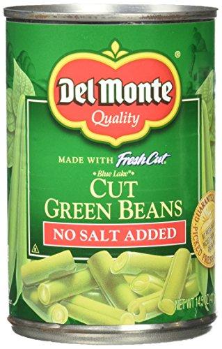 Del Monte No Salt Cut Green Beans - 14.5 oz