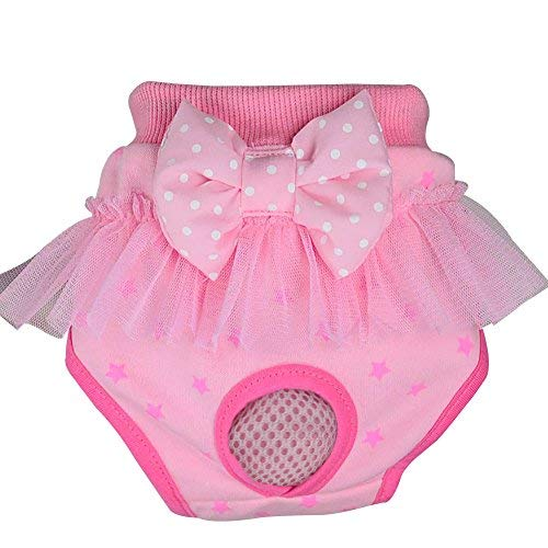 Norbi Pet Dog Cotton Bow Lace Bubble Physiological Underwear Diapers -