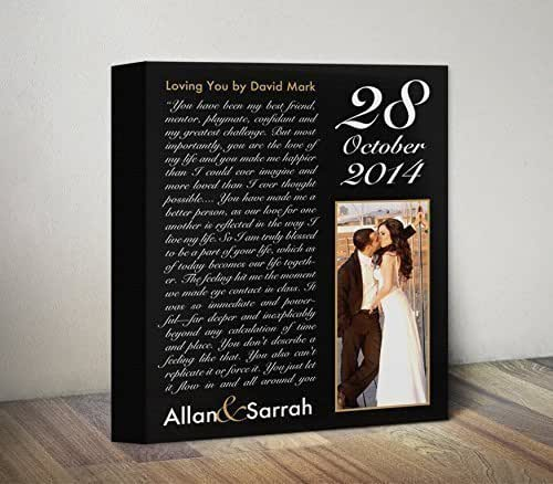 1st Wedding Anniversary Gifts For Men: Amazon.com: Personalized Canvas, Custom Anniversary Gift