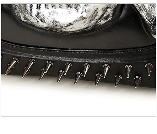 realista computadora bolso viaje de PU Hombres animal cráneo de mochila 3D la alta Gold mochila 35L de la 20 portátil calidad de wznxp