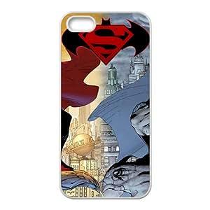 Super Men VS Batmen White iPhone 5S case