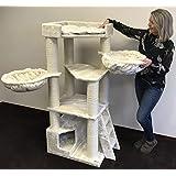 rhrquality kratzbaum grosse katzen stabil xxl maine coon fantasy creme stabil 65kg total und. Black Bedroom Furniture Sets. Home Design Ideas