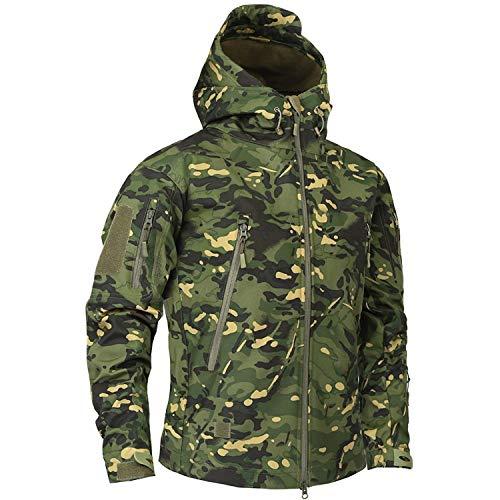 spyman Clothing Autumn Men's Military Fleece Jacket Army Tactical Clothing Multicam Male Windbreakers,4XBig,Bk