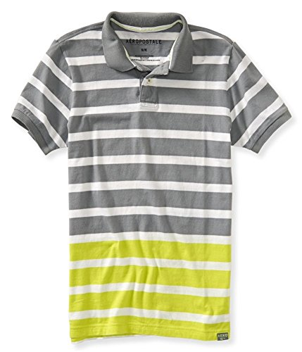 Aeropostale Mens Dual Color Stripe Rugby Polo Shirt 056 XS