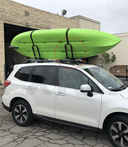 XKMT- UNIVERSAL FOLDABLE KAYAK/SNOWBOARD/BOAT CARRIER ROOF RACK RAIL CROSS BAR J-BAR by XKH-MOTOR