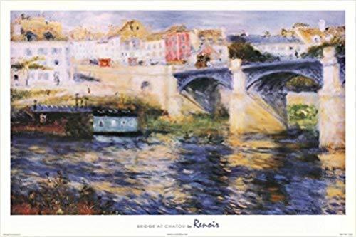 Buyartforless Bridge at Chatou by Pierre-Auguste Renoir 36x24 Art Print Poster Museum Masterpiece Landscape Bridge