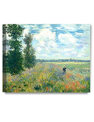 DECORARTS - Poppy Fields Near Argenteuil, Claude Monet Classic Art. Giclee Print Canvas Art for Wall Decor 30x24 x1.5