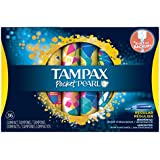 Tampax Pocket Pearl Compact Plastic Regular Absorbency Unscented Tampons, 36 Count (Pack of 3)