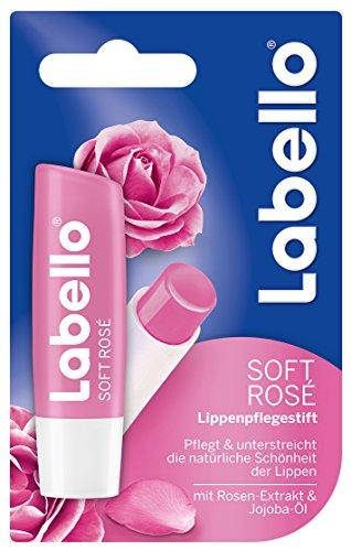 Labello Lippenpflege Colour & Shine Soft Rosé, 3er Pack (3 Stück)