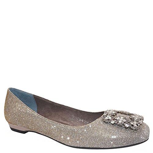Jeweled Womens Shoes - J. Renee Women's Dewport Jeweled Flat,Pewter Dance Glitter Fabric,US 7 W