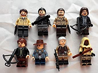 Walking Dead Set of 8 Mini Figures Fit All Lego PlaysetsDaryl Dixon, Rick Grimes, Negan & More