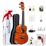 "AKLOT 43211-32335 Tenor Ukulele Solid Mahogany Ukelele 26"" Beginners Starter Kit with Free Online Courses and Ukulele Accessories (AKT26)"