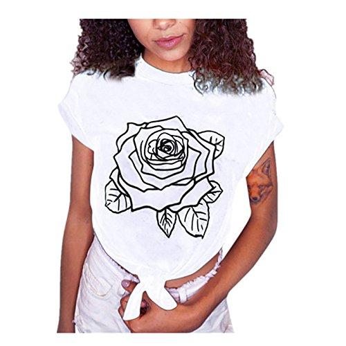Signore Ragazza Divertenti Vestiti Donna Tumblr Top Tumblr Vintage estive Bianca Stampata Magliette Donna Ragazza Camicetta Shirt Moda Donna Corta T Maglietta Shirt beautyjourney Manica ROSFanq