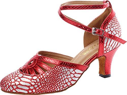 CFP Zapatillas de Danza Para Mujer Rojo Rojo jemajHkHTn