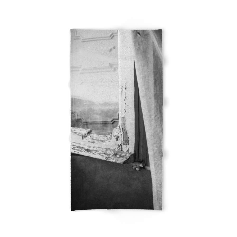 Society6 Bath Towel, 64'' x 32'', I am a Visitor - A Window in Tuscany by studiocarolines