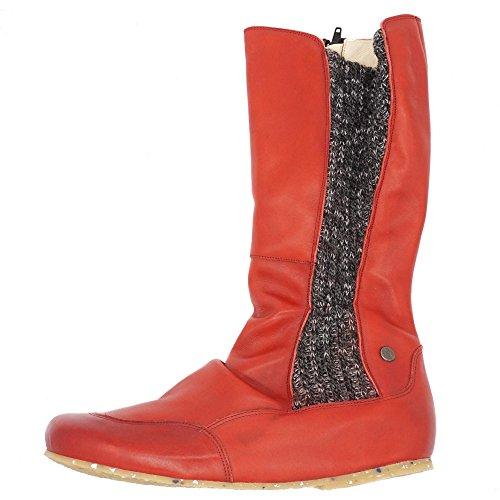 Jonny's - Botas de Piel Lisa para mujer rojo rojo