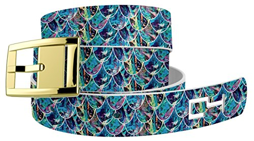 Under The Sea Themed Costume (Mermaid Belt with Gold Buckle. Great for Mermaid or Similar Halloween or Cosplay Costume)