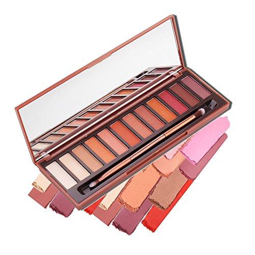 Hot Melted Rock Heat Eye Shadow Makeup Palette,Woya Nude Shimmer Matte Shadow Smoky Brown Red Pumpkin Cosmetics