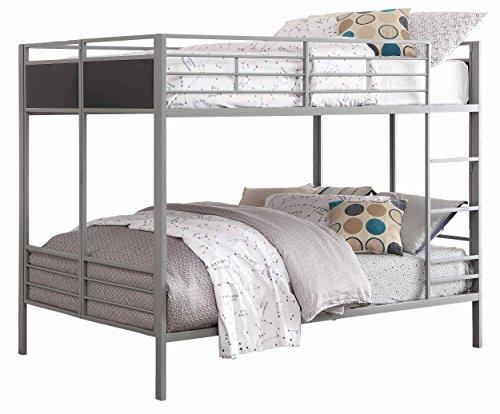 Homelegance B2033FF-1 Full/Full Folding Metal Bunk Bed, Grey