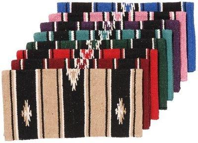 Tough 1 Wool Sierra Miniature Saddle Blanket, Royal/Black