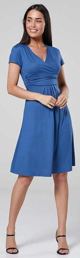Womens Maternity Maxi Dress Pleated Empire Waist Scoop Neck 292c Zeta Ville