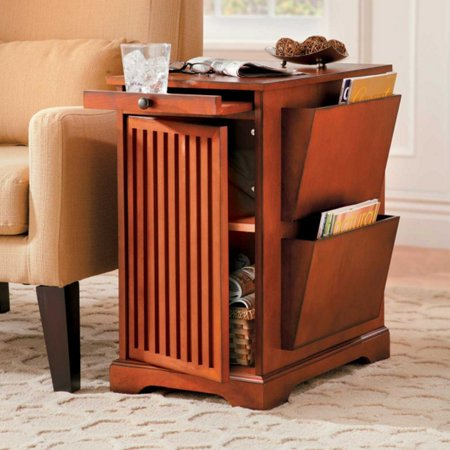 Brown Wooden End Table Contemporary Furniture With