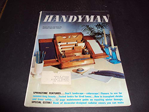 Antique Apr - Family Handyman Apr 1962 Plans for Antique Writing Caddy, Colorscape