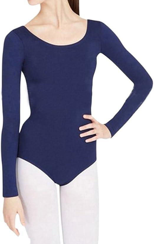 Body Manga Larga Mono para Mujer De Ballet Camisa Blusa: Amazon.es: Ropa y accesorios