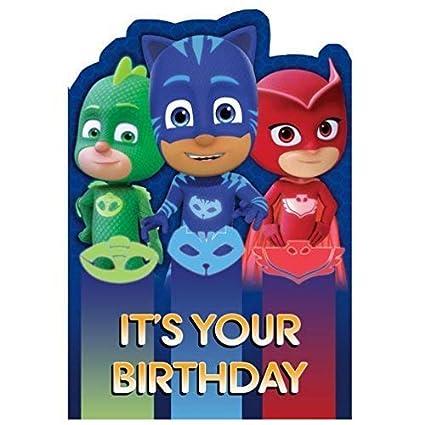 PJ MASKS its Your Tarjeta Cumpleaños: Amazon.es: Oficina y ...