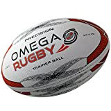 Omega Rugby Precision Training Rugby Ball (Red / Black, 3 (Ages 6 - 9))
