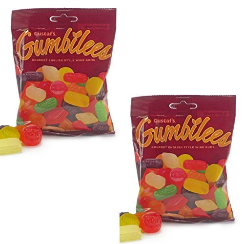 Gustaf's Gumbilees TWO PACK - Gourmet English Style Wine Gums - Gummi Fruit Candies 10.4 oz Total (English Fruit)