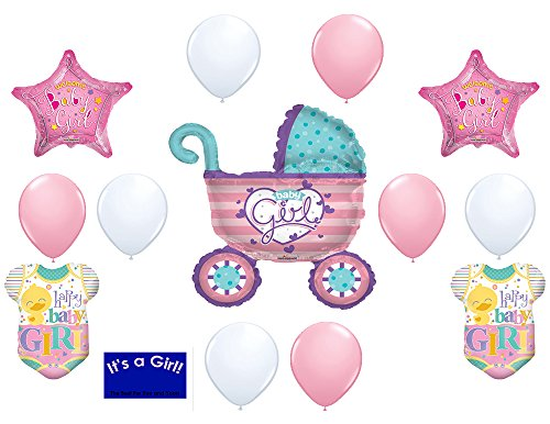 It's a Girl (14) pcs Baby Shower Decorations Balloons 36